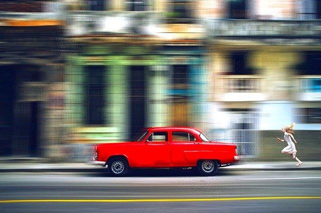 voiture vintage floue