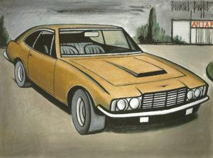 Aston martin tableau bernard buffet