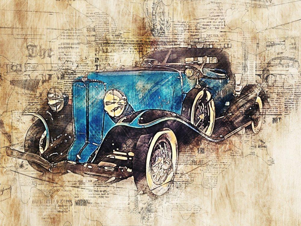 peinture voiture de collection