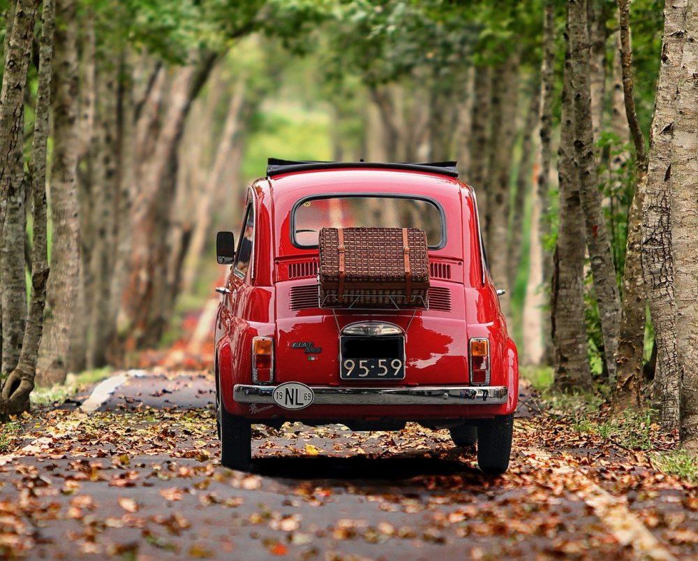 Fiat 500 vintage rouge