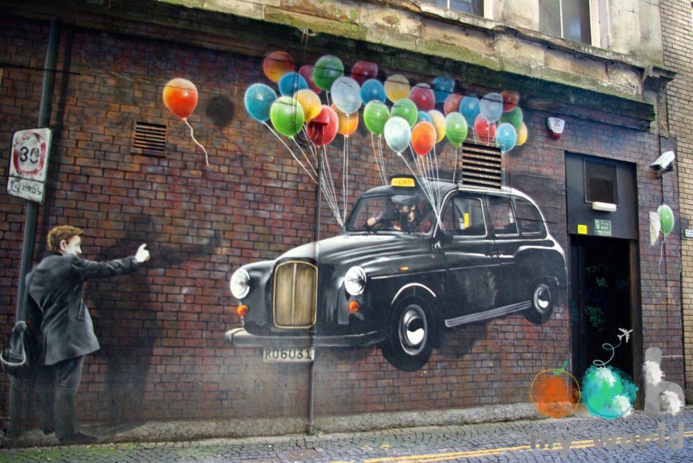Taxi londonien peinture