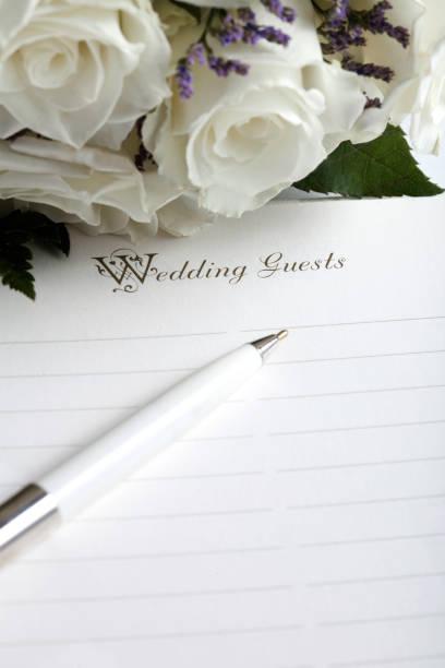 Page blanche liste d'invités mariage